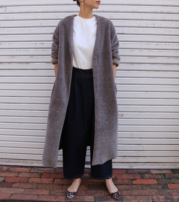 Boucle Long Coat