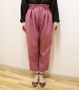 Cropped straight pants【RE LEAN】