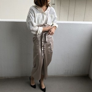 Out pocket wrap skirt【RE LEAN】