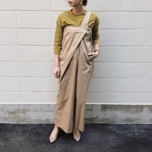 One shoulder wide pants【Real & Joy Dress】