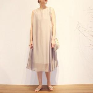 Sleeveless dress【RE LEAN】