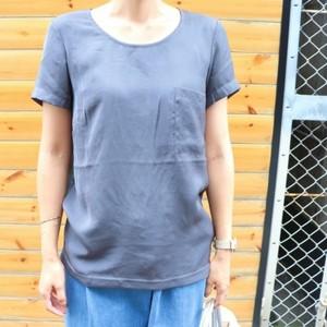 Satin T-shirt【RE LEAN】
