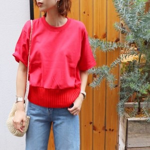 Hem knitted cutaway 【RE LEAN】