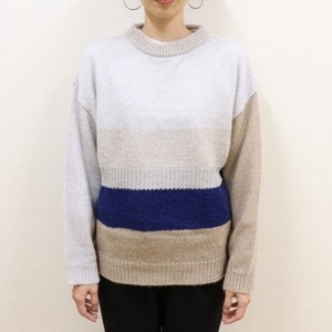 Different material mix pullover【RE LEAN】