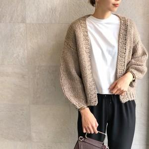 Hand Knit Short Cardigan【RE LEAN】