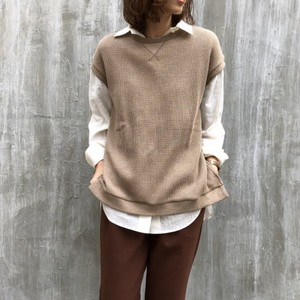 Waffle french sleeve pullover【RE LEAN】