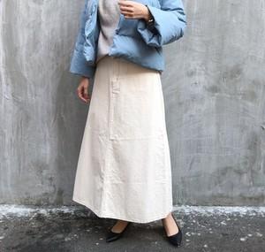 Color denim skirt【RE LEAN】